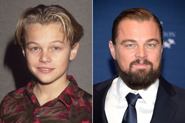 Leonardo DiCaprio as a kid