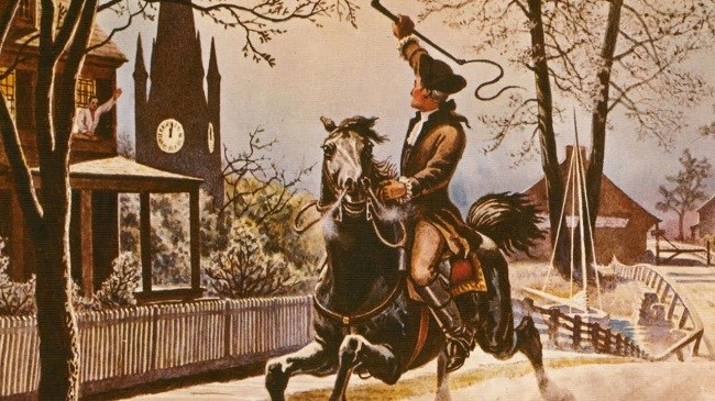 paul reveres famous midnight ride