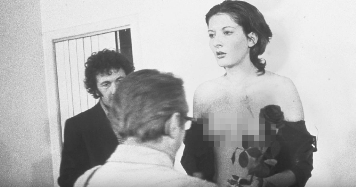 Abramovic was undressed and groped