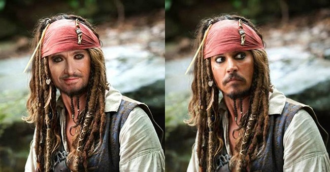 Hugh Jackman as Captain Jack Sparrow