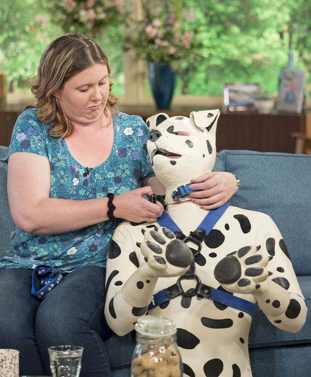 Man has hobby to dress like spotty Dalmatian dog