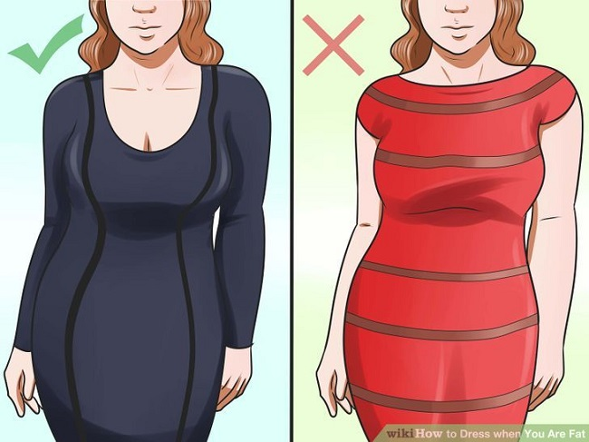 Avoid oversized clothes