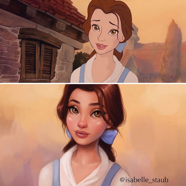 5 Disney Princesses Redrawn By A Talented Painter As Real Life