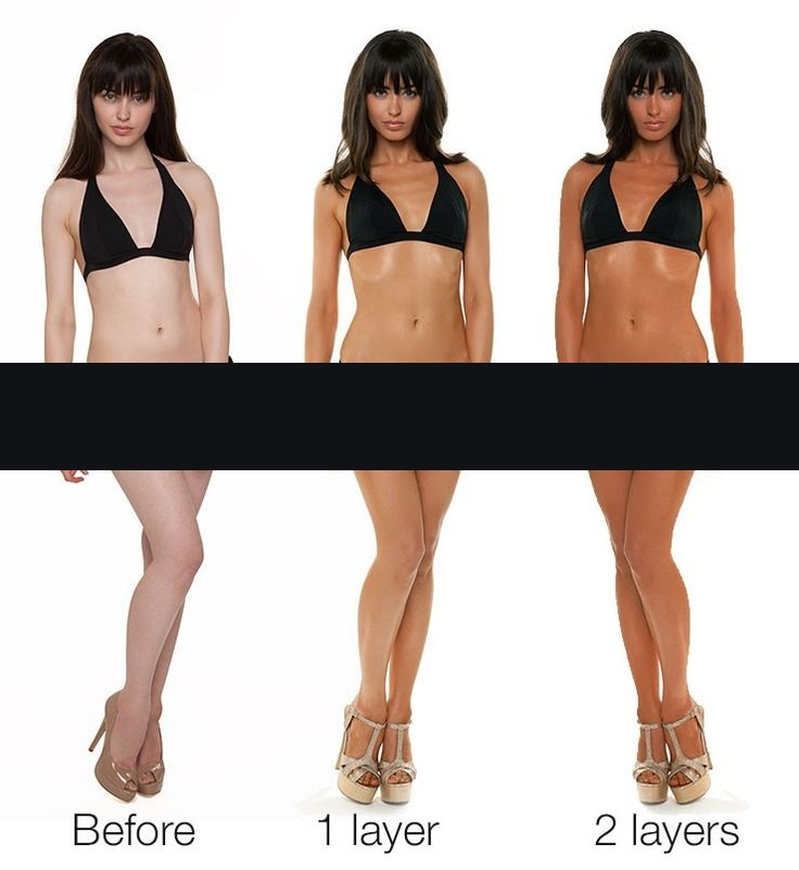 Fake a tan to look thin and fit