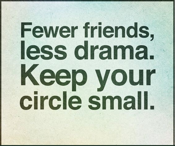 Fewer friends