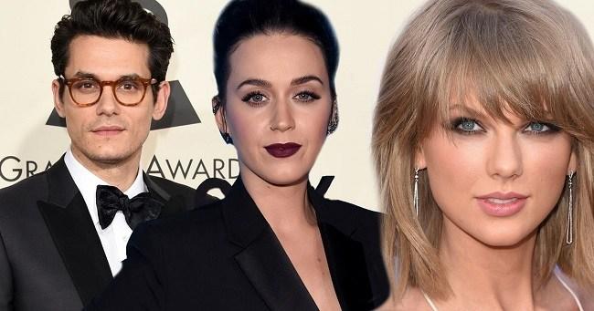 Katy Perry, Taylor Swift and John Mayer