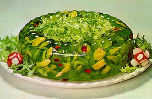 Salad made from Jell o