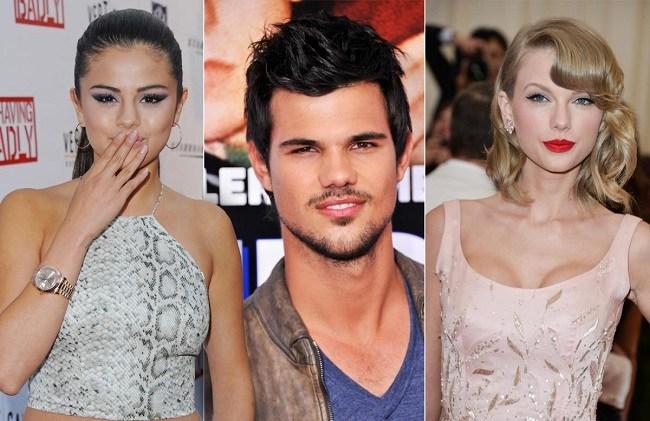 Taylor Swift, Selena Gomez and Taylor Lautner