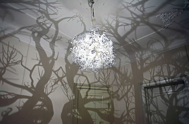 This spooky looking chandelier