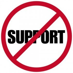 support becomes less