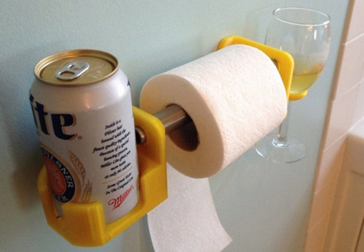 toilet paper cum drinks holder