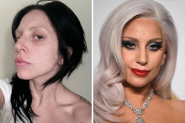 Lady Gaga always goes for dramatic makeups