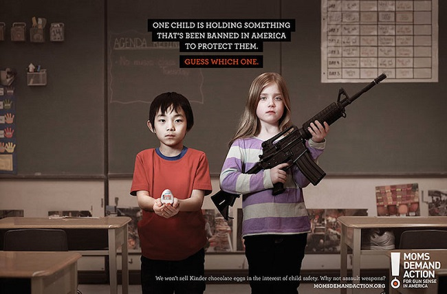 """One child is holding something that has been banned in America to protect them"""