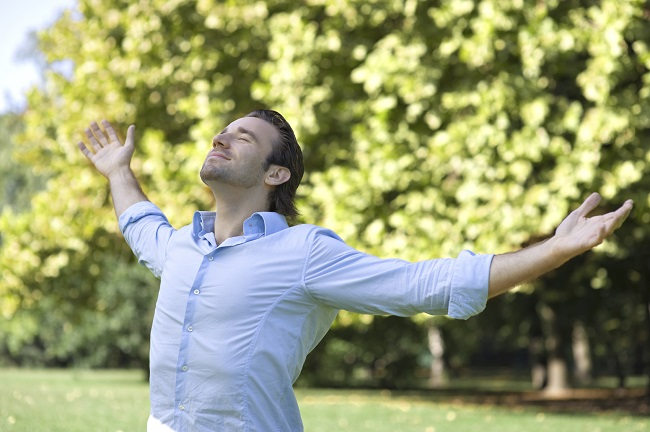 Image result for man breathing fresh air