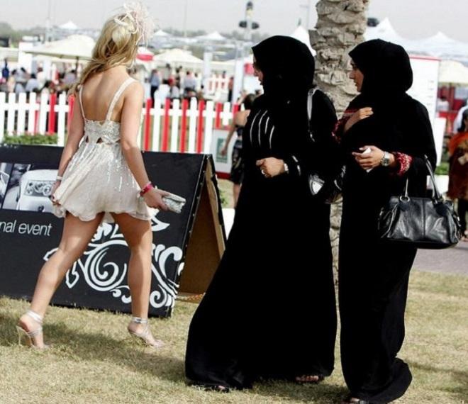 Arabs and locals live in Dubai
