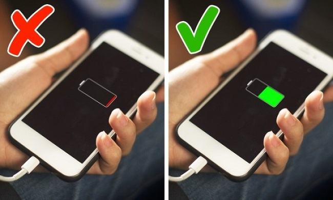 charge your phone until the battery is completely drained