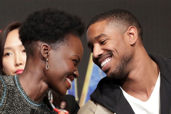 Michael B Jordan and Lupita Nyong'o