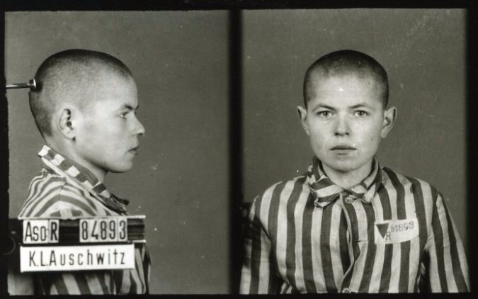 Profile photos documented by Nazis at Auschwitz