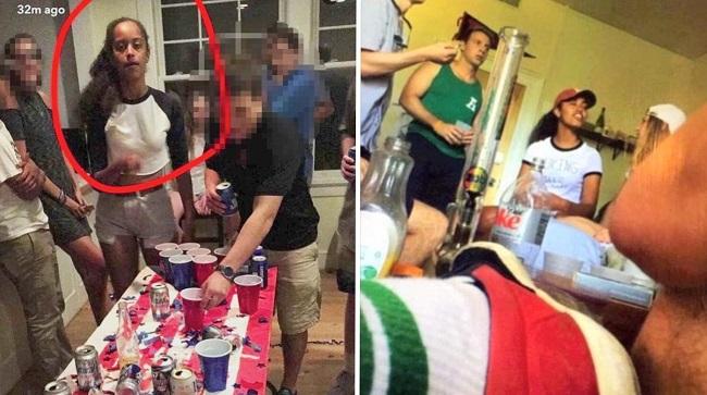 Malia Obama partying hard