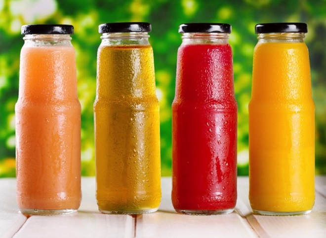 Packed fruit juices