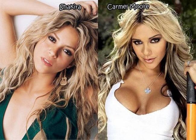 Shakira looks like Carmel Moore