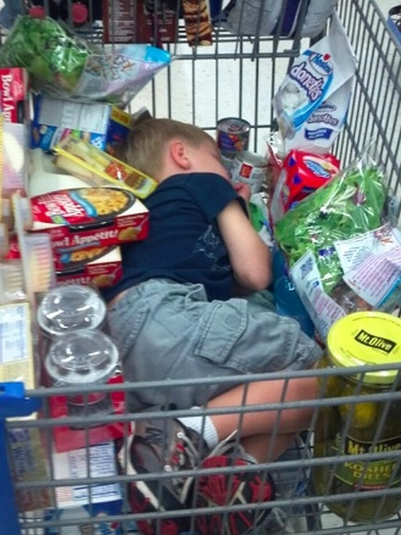 Sleeping in the shopping cart