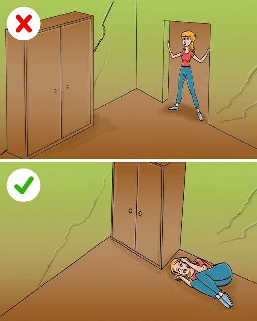 Where you should hide during an earthquake