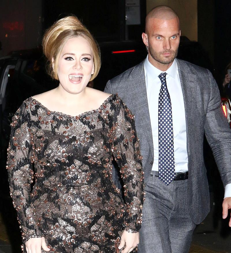 Adele and her very handsome bodyguard