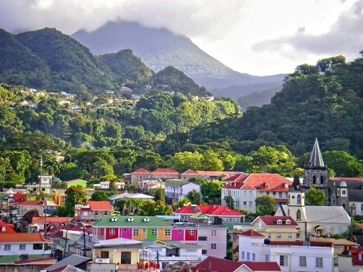 Dominica is a mountainous Caribbean