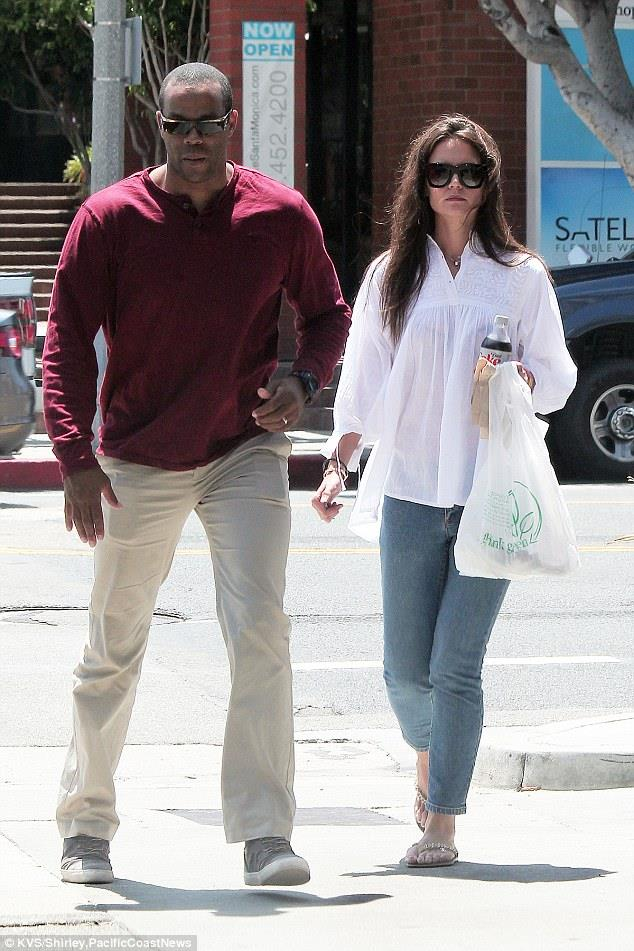Katie Holmes and her bodyguards