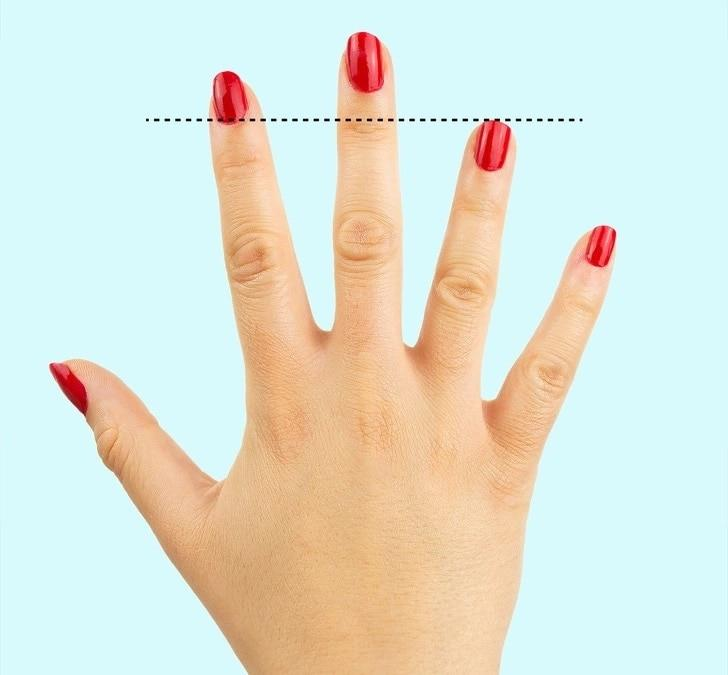 Ring finger length shorter
