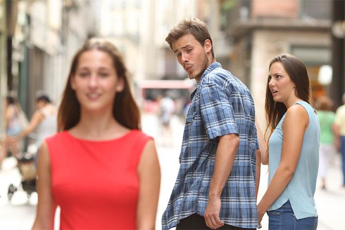 The distracted boyfriend