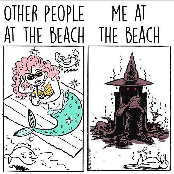 You at the beach
