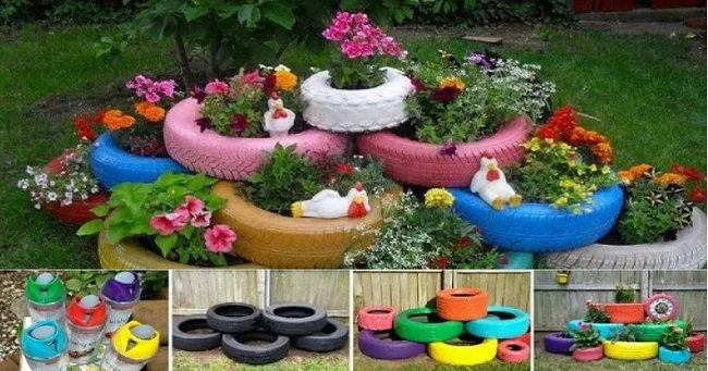 Amazing Ideas On Garden Seating And Decor Using Dead Trees And Car Tires