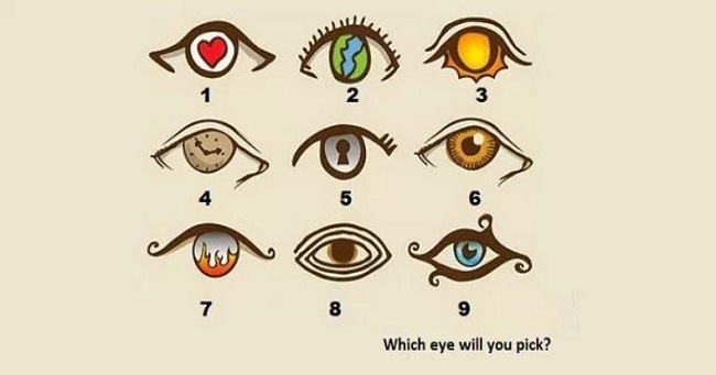 Take this Eye Personality quiz by choosing an eye which