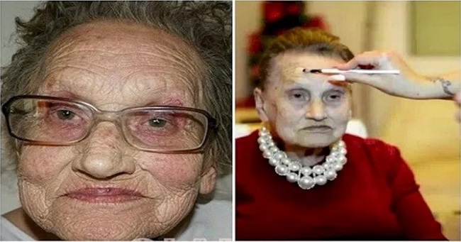 This Grandma takes the power of makeup to another level!