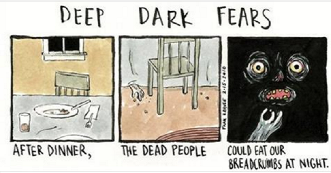 Watch the Results When an Illustrator Converts Your Darkest and Deepest Fears into Comics