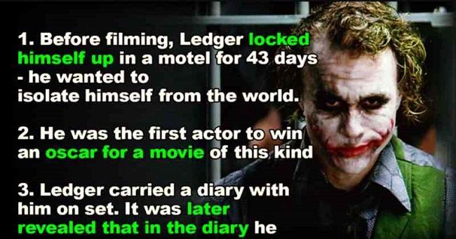15 Incredible Facts About Heath Ledger S Joker Every Fan