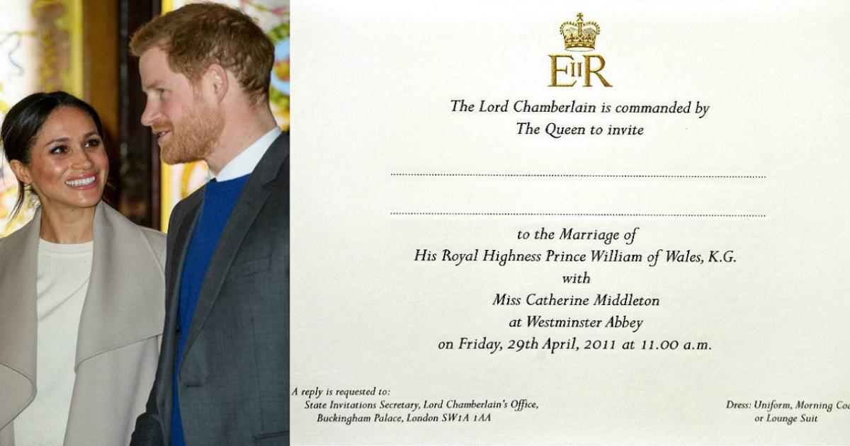 Kate Middleton And Meghan Markle S Wedding Invites Have